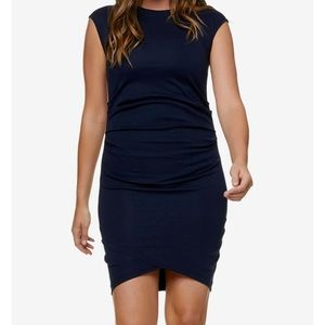 Bae. Navy Blue Ruched Bodycon Dress Size Small